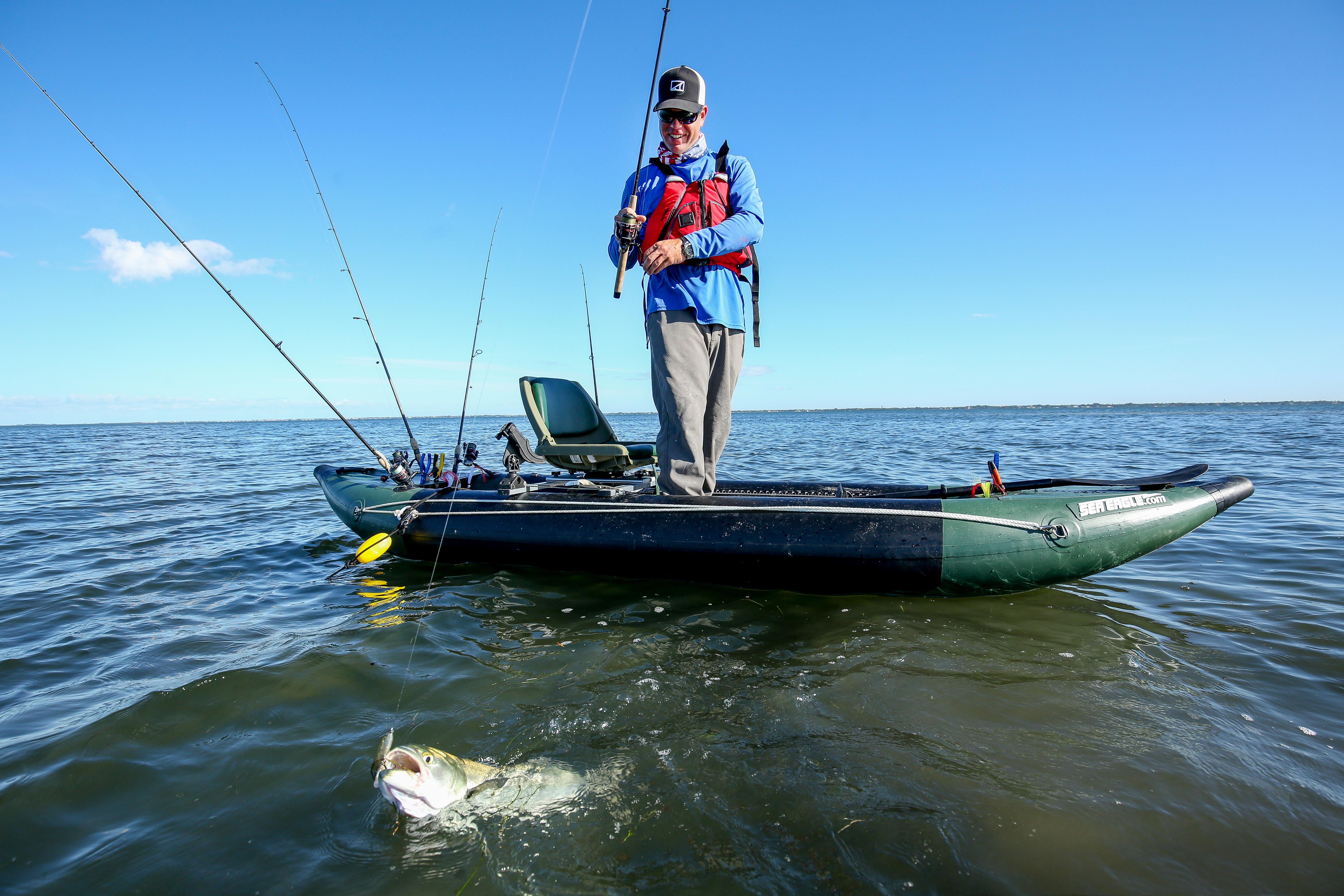Kayaks: 350FX Fishing Explorer™ by Sea Eagle - Image 3026