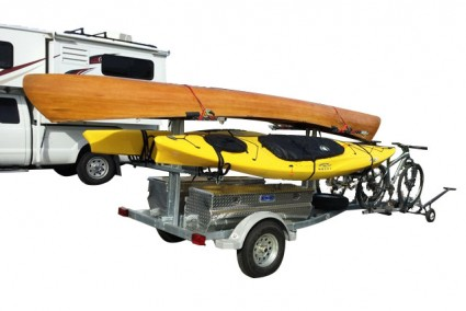 Transport, Storage & Launching: 4 Place Canoe Trailer/8 Kayak Trailer with Storage by North Woods Sport Trailers - Image 4028