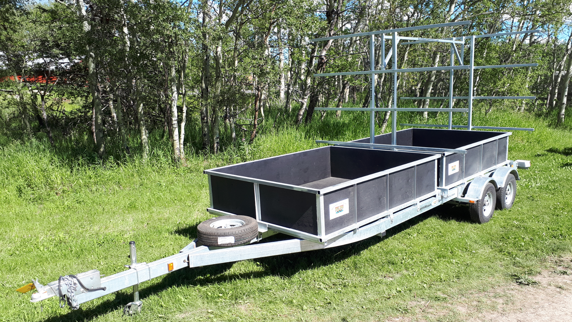 Transport, Storage & Launching: 6-8 place Canoe/12-16 Kayak Trailer by North Woods Sport Trailers - Image 4031