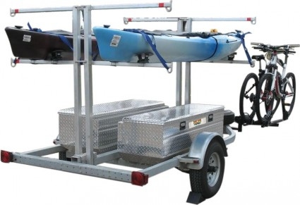 Transport, Storage & Launching: 1-2-3-4 Canoe Trailer/8 Kayak Trailer, Open -or Closed Boxes by North Woods Sport Trailers - Image 4510