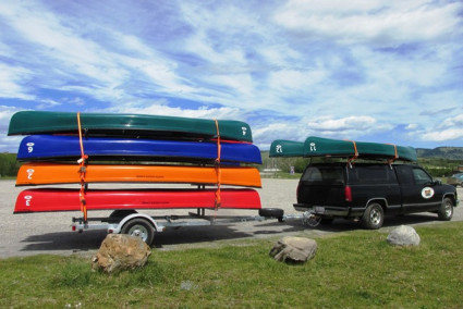 Transport, Storage & Launching: 8 - 12  Canoe / 16 -24 Kayak, SUP Trailer, Gear, Bikes by North Woods Sport Trailers - Image 4030