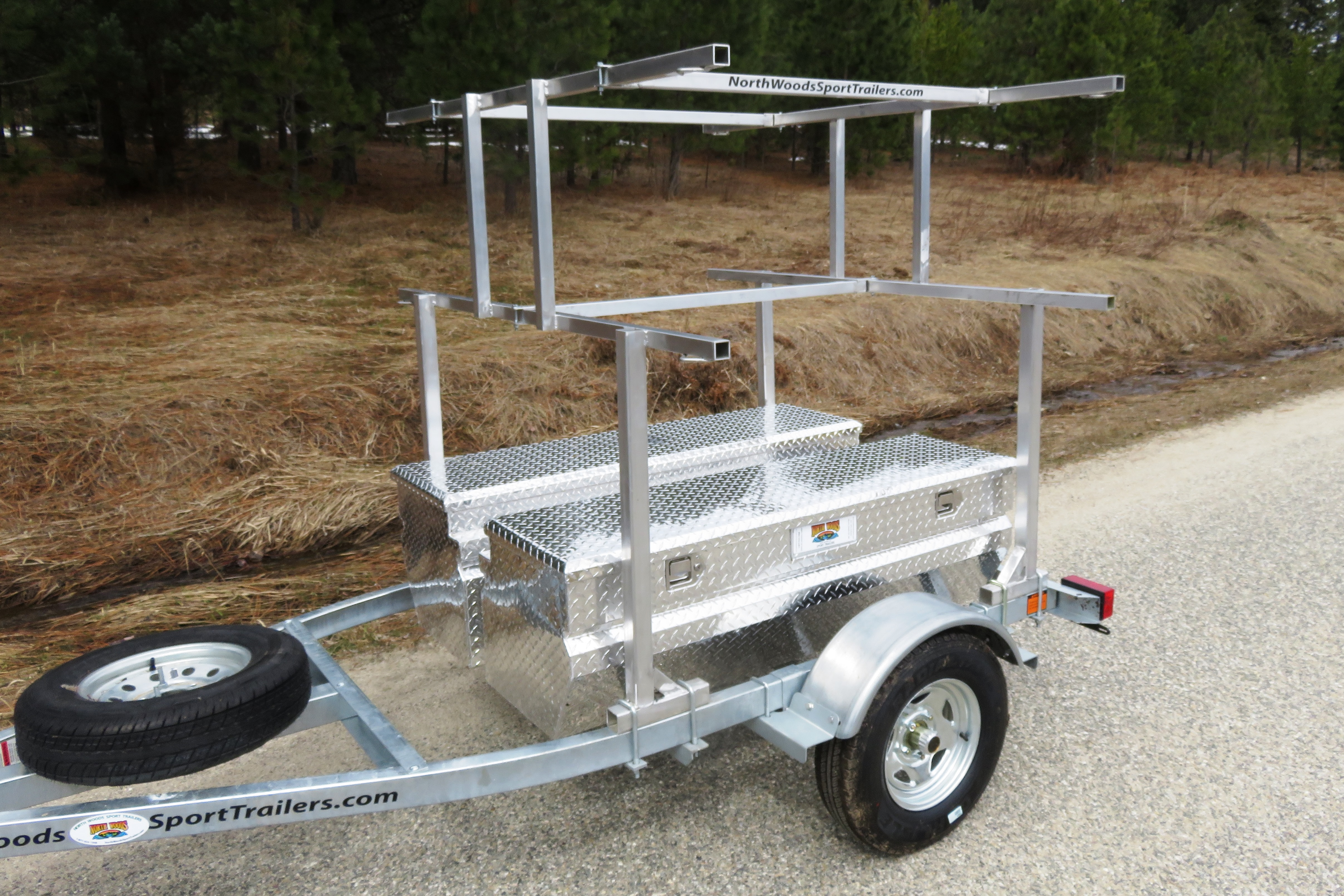 Transport, Storage & Launching: RTT Roof Top Tent, Bikes Canoes, Kayaks, Storage, by North Woods Sport Trailers - Image 4035