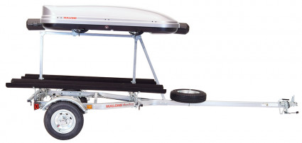 Transport, Storage & Launching: MicroSport™ LowBed™ Trailer w/Tier, Spare, 2 sets of Bunks, Cargo Box, & Rod Tube by Malone Auto Racks - Image 4730