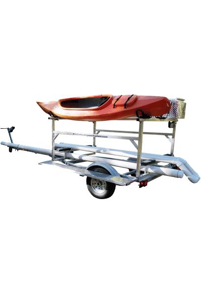 Transport, Storage & Launching: Hobie© Tandem Island + Storage + Kayaks +Bikes- Mast Tube by North Woods Sport Trailers - Image 4042