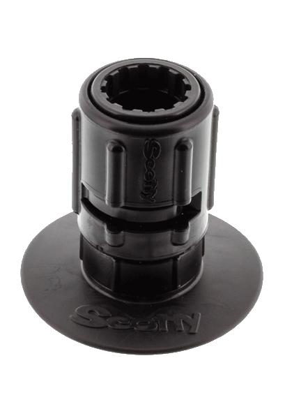 "Mounts, Tracks & Accessories: 3"" Stick-On Accessory Mount w/ Gear-Head by Scotty - Image 4163"